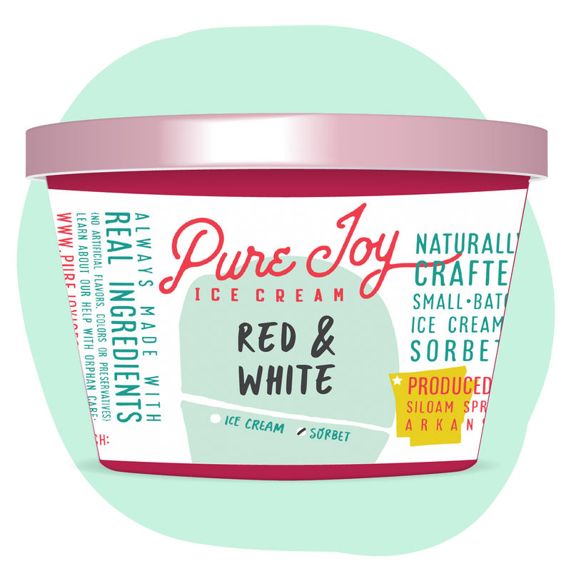 Red & White Sorbet Tub