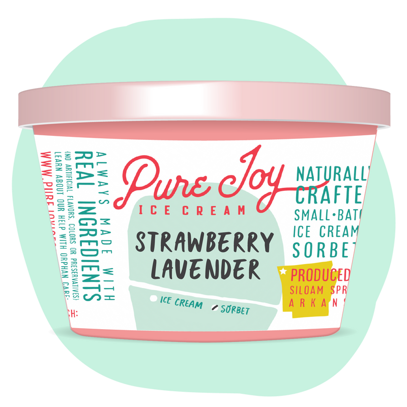 Strawberry Lavender Sorbet Tub