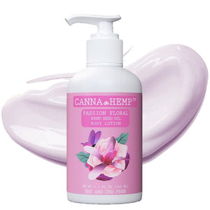 Canna Hemp - Passion Floral Lotion - 8.1 Fl Oz (240mL)