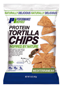 PERFORMANCE INSPIRED - Protein Chips - Mediterranean- 5 oz. (Case of 12), 4.8 OZ