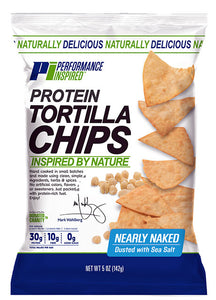 PERFORMANCE INSPIRED -  Protein Chips - Nearly Naked - 5 oz. (Case of 12), 4.8 OZ