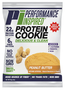 PERFORMANCE INSPIRED - Protein Cookie - Peanut Butter (Box of 12) , 38.4 OZ