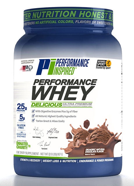 PERFORMANCE INSPIRED - Performance Whey Decadent Natural Chocolate - Sample Size (Box of 12), 19.2 OZ