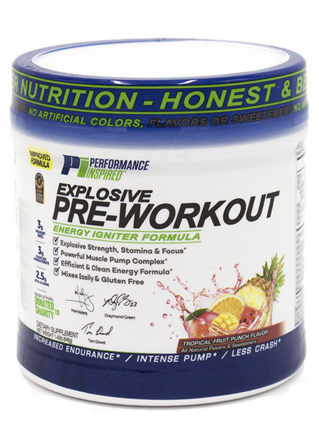 PERFORMANCE INSPIRED - Pre-Workout Tropical Fruit Punch , 27.2 OZ