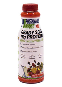 PERFORMANCE INSPIRED - Protein Ready 2 Go - Island Fruit Punch - Case of 12 bottles (16 oz)