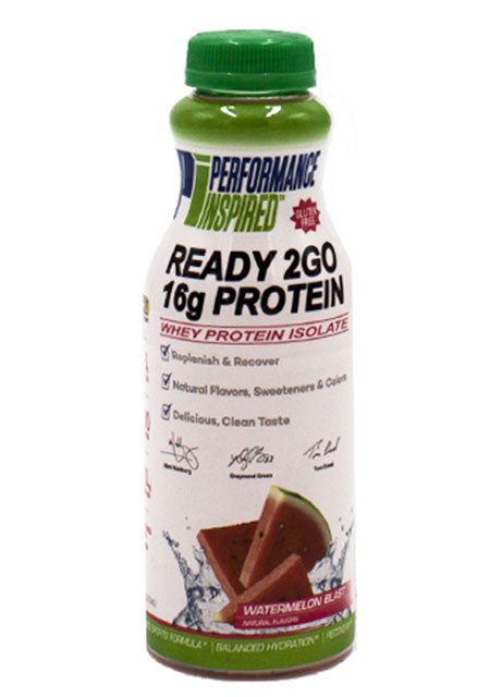 PERFORMANCE INSPIRED - Protein Ready 2 Go - Watermelon Blast - Case of 12 bottles (16 oz)