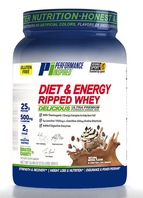 PERFORMANCE INSPIRED - Ripped Whey Protein Mocha, 41.6 OZ