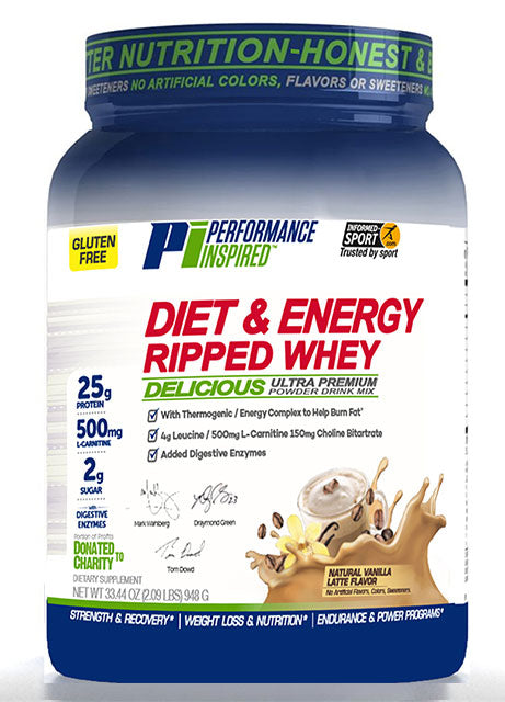 PERFORMANCE INSPIRED - Ripped Whey Protein Vanilla Latte , 38.4 OZ
