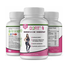 Load image into Gallery viewer, D2Fit Nutrition - Women's 4 in 1 Kickstart - 60 Capsules