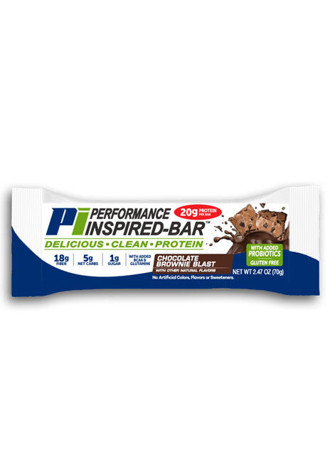 PERFORMANCE INSPIRED NUTRITION - Inspired Bar - Chocolate Brownie Blast - Box of 12, 35.2Oz
