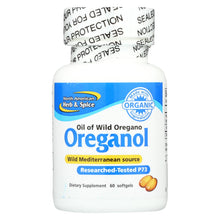 Load image into Gallery viewer, North American Herb And Spice Oreganol Oil Of Wild Oregano - 60 Gelatin Capsules