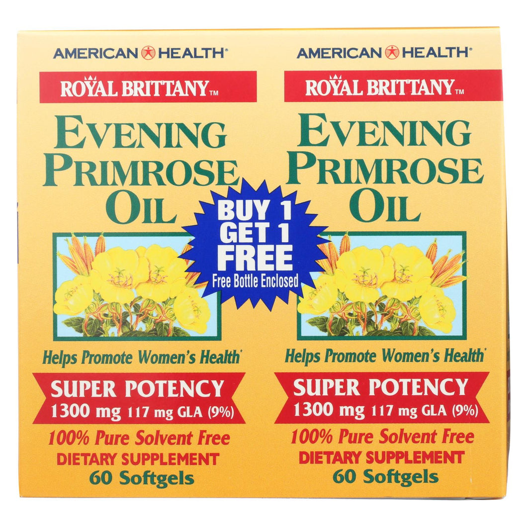 American Health - Evening Primrose Oil - 1300 Mg - 60+60 Softgels