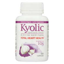 Load image into Gallery viewer, Kyolic - Aged Garlic Extract Total Heart Health Formula 108 - 100 Capsules