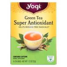 Load image into Gallery viewer, Yogi Green Tea Super Anti-oxidant - 16 Tea Bags - Case Of 6
