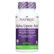 Load image into Gallery viewer, Natrol Alpha Lipoic Acid Time Release - 600 Mg - 45 Tablets
