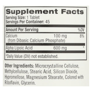 Natrol Alpha Lipoic Acid Time Release - 600 Mg - 45 Tablets