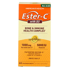 Load image into Gallery viewer, American Health - Ester-c With D3 Bone And Immune Health Complex - 60 Tablets