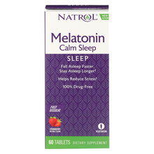 Load image into Gallery viewer, Natrol Advanced Melatonin Plus Fast Dissolve Strawberry - 60 Tablets