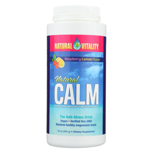 Natural Vitality Natural Calm Raspberry Lemon - 16 Oz