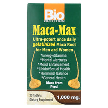 Load image into Gallery viewer, Bio Nutrition - Maca-max - 1000 Mg - 30 Tablets