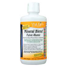 Load image into Gallery viewer, Vital Earth Minerals Fulvic-humic Mineral Blend - 32 Fl Oz