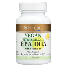 Load image into Gallery viewer, Spectrum Essentials Vegan Ultra Omega - 3 Epa And Dha Capsules - 60 Soft Gels