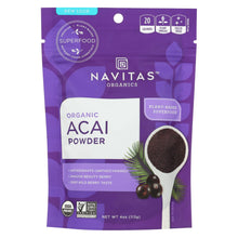 Load image into Gallery viewer, Navitas Naturals Acai Powder - Organic - Freeze-dried - 4 Oz - Case Of 12