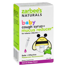 Load image into Gallery viewer, Zarbee's Cough Syrup And Mucus Reducer - Baby - 2 Oz