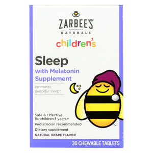 Zarbee's Childrens Sleep - Grape Flavor - 30 Chewables