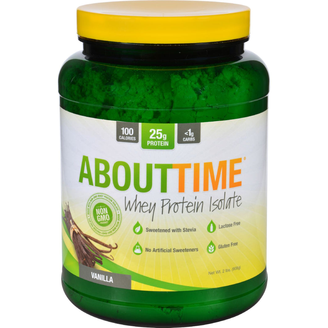 About Time - Whey Protein Isolate - Vanilla - 2 Lb.