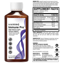 Load image into Gallery viewer, Dr Nutrition 360 - High Potency Liquid Immune Support with Vitamin C, D, Zinc, Elderberry, Ginseng & Ginger - 8.11 Fl Oz (240 mL)