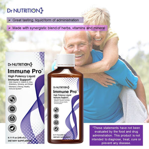 Dr Nutrition 360 - High Potency Liquid Immune Support with Vitamin C, D, Zinc, Elderberry, Ginseng & Ginger - 8.11 Fl Oz (240 mL)