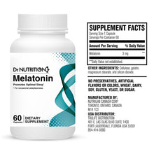 Load image into Gallery viewer, Dr Nutrition 360 - Melatonin 3mg - 60 Capsules