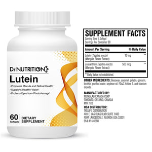 Dr Nutrition 360 - Lutein 10mg - 60 Softgels