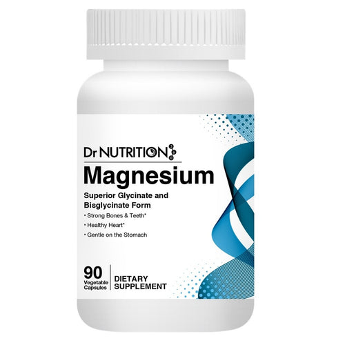 Dr Nutrition 360 - Magnesium Superior Glycinate and Bisglycinate Form - 90 Capsules