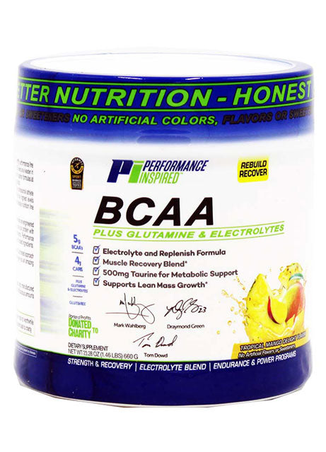 PERFORMANCE INSPIRED NUTRITION - BCAA Post-Workout Tropical Mango Delight, 27.2 Oz