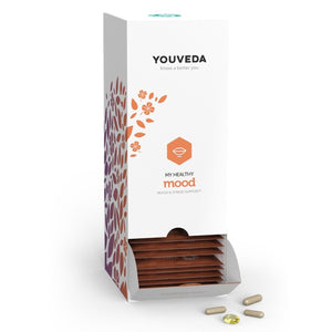 YouVeda My Healthy Mood Kit - Mood, Stress and Adrenal Support Herbal Supplement - Ayurvedic and Vegan Friendly - 30 Days Supply