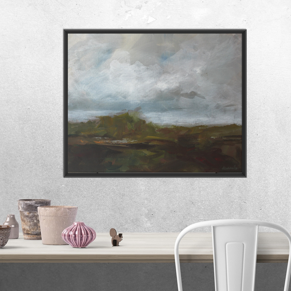 "Modern Abstract Landscape on 16x20 canvas ""Calling Field and Cloud"""
