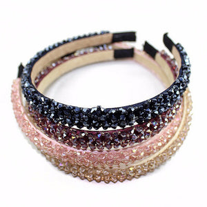 Multi-Color Crystal Glass Headband | Fashion Handmade Hair Accessory - Bring The Jewels