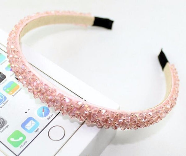 Multi-Color Crystal Glass Headband | Fashion Handmade Hair Accessory
