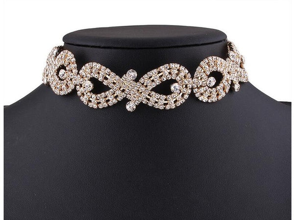 Diamante Choker Necklace | Crystal Statement Necklaces