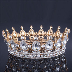 VINTAGE Baroque Queen King Crown | Bridal Wedding Tiara and Crown - Bring The Jewels