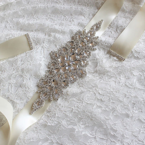Bridal Sashes | Crystal Wedding Sashes