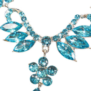 Wedding Bridal Jewelry - Crystal Rhinestone Necklace Earring Set