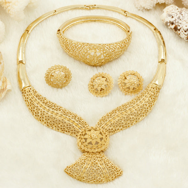 Wedding Jewelry For Bridesmaids | Bridesmaids Gold Wedding Jewelry Set