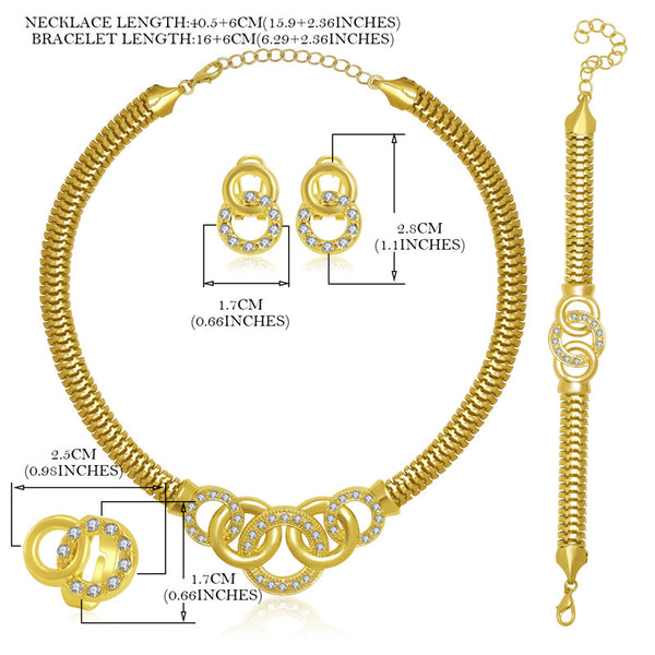 African Wedding Jewelry Set | Gold Or Silver African Jewellery Sets - Bring The Jewels