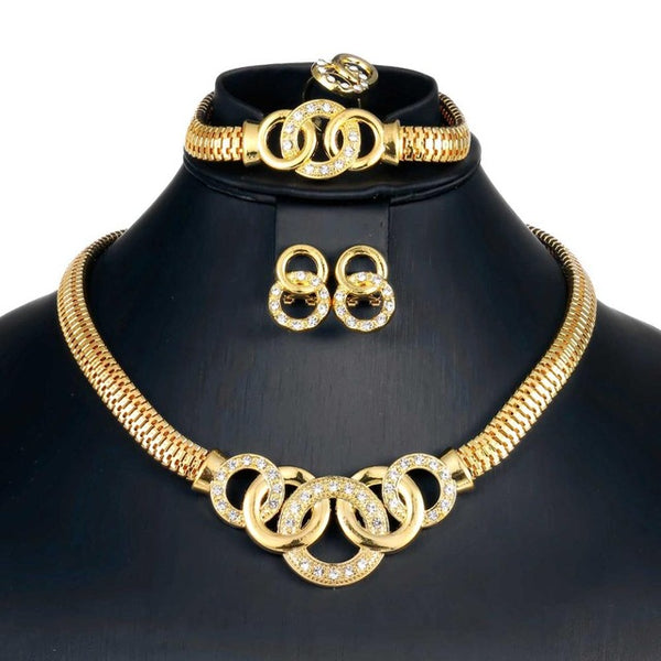 African Wedding Jewelry Set | Gold Or Silver African Jewellery Sets