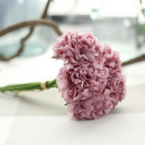 Artificial Silk Peony Floral Wedding Bouquet