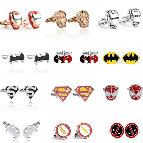 Superheros Cufflinks For Men | Superhro Cufflinks Groomsmen Gifts