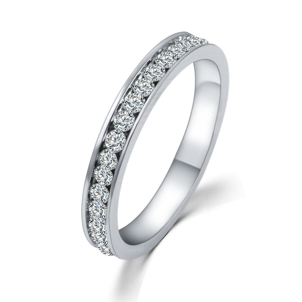 Wedding Bridal Band | CZ Diamond Ring Silver 925
